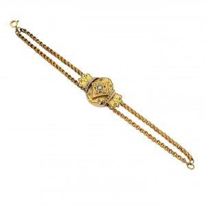 Victorian Pearl & Enamel Slide Bracelet
