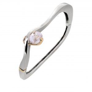 Kunzite & Pink Diamond 'Embrace' Bracelet