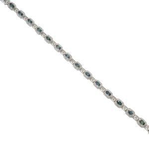 Alexandrite & Diamond Link Bracelet