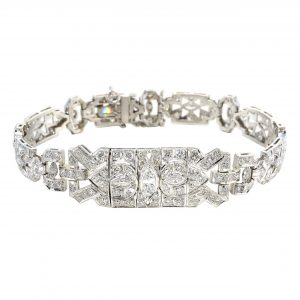 Art Deco Diamond Statement Bracelet