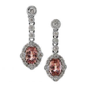 Imperial Topaz & Diamond Antique Revival Earrings