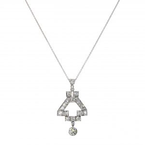 Art Deco Diamond Geometric Pendant