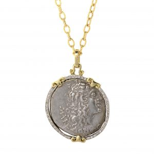 Alexander the Great Silver Coin Pendant