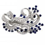 Estate Sapphire & Diamond Bouquet Brooch