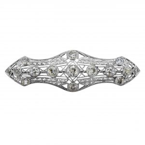 Art Deco 4.00ct Diamond Art Deco Filigree Brooch