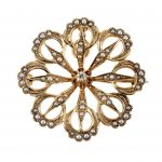 Victorian Starburst Diamond Pin and Pendant