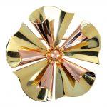 1940's 3D Gold Flower Brooch
