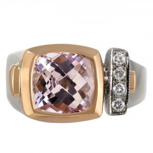 3.82ct Kunzite & Diamond Ring