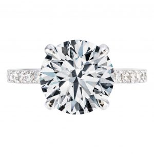 3.31ct Round Brilliant Cut Engagement Ring