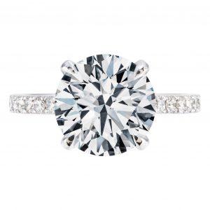 3.31ct Round Brilliant Cut Engagement Ring