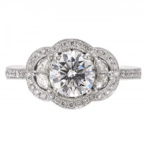 1.01ct Round Brilliant Cut Engagement Ring
