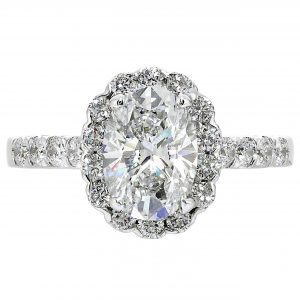 1.51ct Oval Diamond Halo Engagement Ring