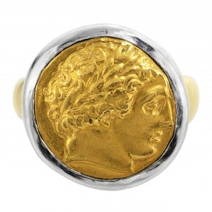 Ancient Gold Phillip II Coin Ring