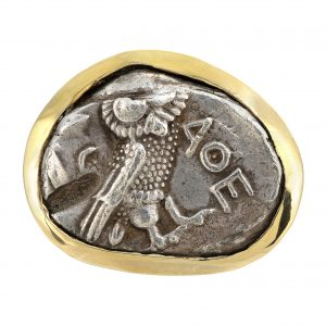 Athenian Owl Coin Men's Ring