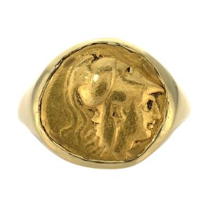 Alexander the Great Gold Stater Coin Men's Ring
