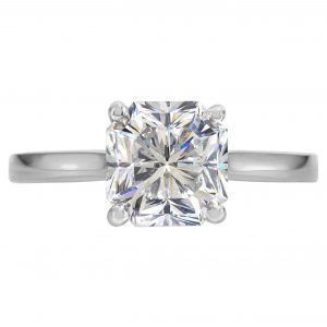 1.85ct Radiant Cut Diamond Solitaire Engagement Ring