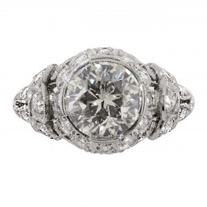 2.00ct Diamond Art Deco Engagement Ring
