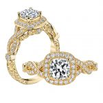 1.01ct Square Cushion Cut Diamond Antique Revival Engagement Ring