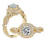 1.01ct Square Cushion Cut Diamond Antique Revival Engagement Ring