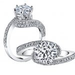 1.20ct Round Brilliant Cut Diamond Bypass Engagement Ring