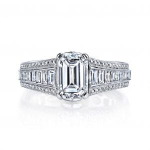 1.49ct Emerald Cut Diamond Engagement Ring