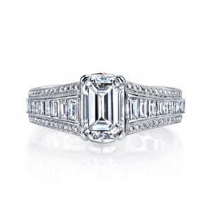 1.49ct Emerald Cut Diamond Engagement Ring