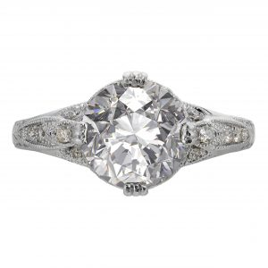 2.53ct Round Brilliant Cut Antique Revival Engagement Ring