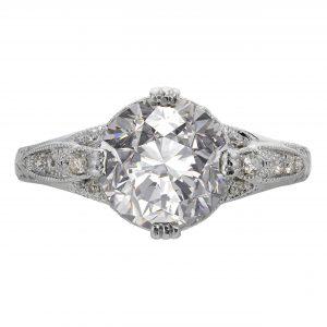 2.53ct Round Brilliant Cut Antique Revival Engagement Ring