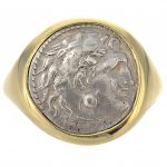 Alexander the Great Drachm Coin Men's Ring