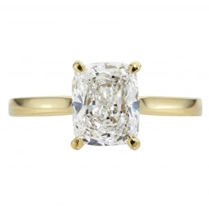 1.71ct Cushion Cut Diamond Solitaire Engagement Ring