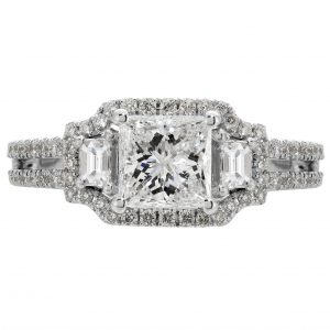 1.00ct Princess Cut Diamond Engagement Ring