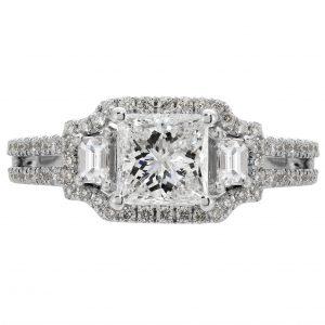 1.00ct Princess Cut Diamond Engagement Ring